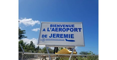 The construction of Jeremie Airport