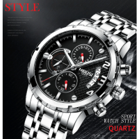 Top Brand Luxury Big Men's Quartz Watch Waterproof