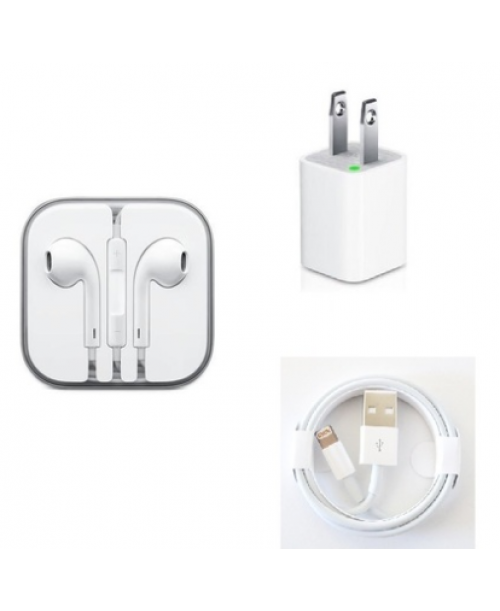 100 sets of iPhone Wall Charger, USB Cables & Headphones